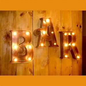 Lampe Mit Buchstaben : leuchte in bar schriftform ~ Watch28wear.com Haus und Dekorationen