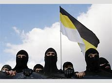 Russian ultra nationalists carry the historic flag of the