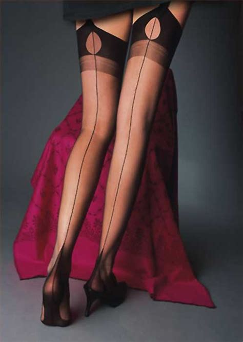 Cervin Tentation Fully Fashioned Seamed Stockings In Stock At Uk Tights