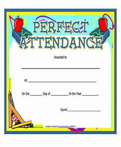 Perfect Attendance Certificate Template Attendance Award Certificate Template Choice Image Certificate Design And Template