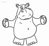 Hippo Coloring Pages Baby Cartoon Printable Cute Cool2bkids Getcolorings Results sketch template