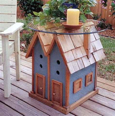 Birdhouse Table Outdoor Wood Plans Immediate Download