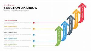 5 Section Arrow Diagram Template For Powerpoint  U0026 Keynote