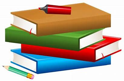 Clipart Books Pencil Marker Transparent Libros Clip