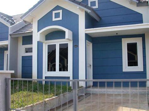 kombinasi warna rumah biru putih rumah minimalis rumah