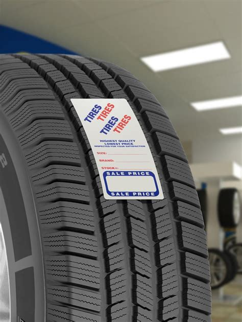 tire labels adhesive stickers auto ad sales