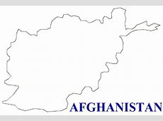 Map of Afghanistan Terrain, area and outline maps of