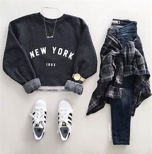 Teen fashion. Layout my outfit. Adidas shoes. Tumblr outfits   Never go out of style   Pinterest ...