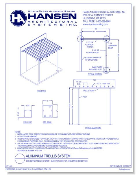 hansen architectural systems  metals cad drawings