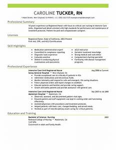 best intensive care unit registered nurse resume example With icu nurse resume