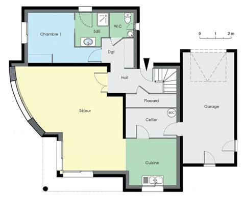 plan de maison 4 chambres plain pied gratuit plan de maison contemporaine gratuit