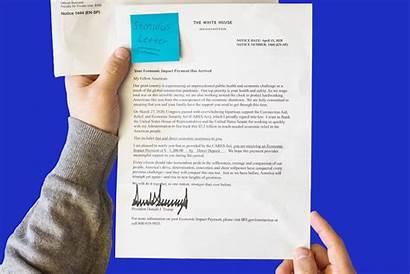 Stimulus Irs Letter Check Trump Money Mail