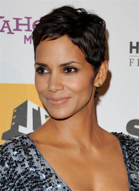 halle berry beauty evolution relaxed short hairstyles
