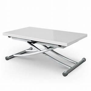 Table Basse Relevable Blanche : table basse relevable blanche laqu e carrera ~ Teatrodelosmanantiales.com Idées de Décoration