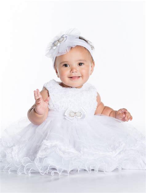 Dress Baby Angsa baby white christening dress baby lace dress