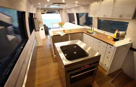 The £1.2million motorhome with a state of the art kitchen