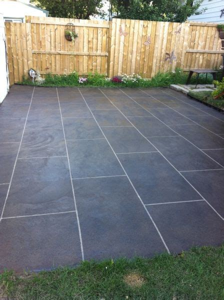 Back Patio Concrete Resurfacing Calgary   Decorative