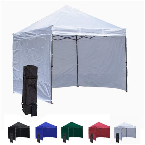 white  pop  canopy tent   side walls compact edition durable aluminum tent frame