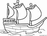 Mayflower Coloringall sketch template