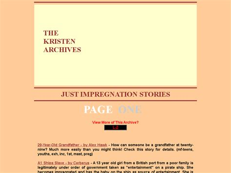 The Kristen Archives Just Impregnation Stories