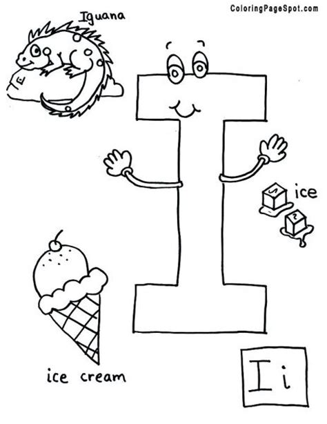 letter i words coloring page best place to color 9 best images about letter ii on crafts 66077