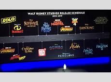Disney da a conocer a las fechas de sus próximos estrenos