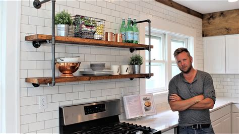 Kitchen Shelving Ideas - the farmhouse pipe shelves easy diy project includes hanging youtube
