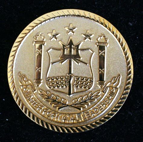 navy center  naval leadership challenge coin trident
