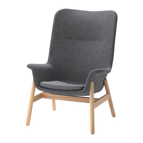 dining room stools vedbo high back armchair gunnared grey ikea