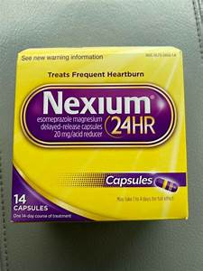 Nexium 24hr Esomeprazole 20 Mg Acid Reducer 42 Tablets For Sale Online