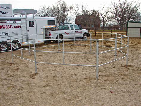 trailer horse travel corrals panel open connecting go