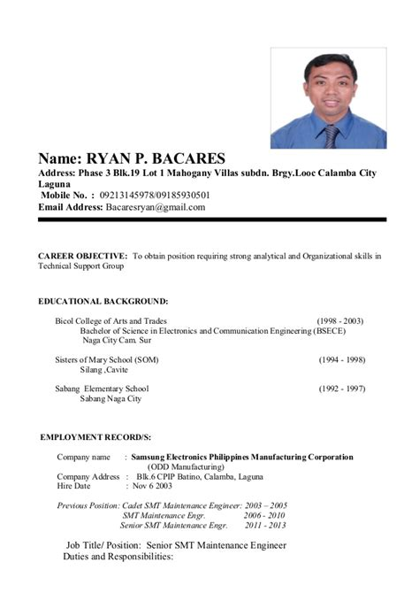 My Resume by My Resume Format