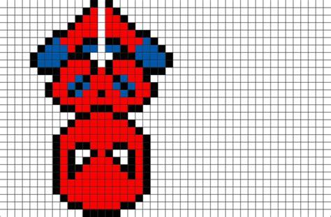 spider man pixel art brik