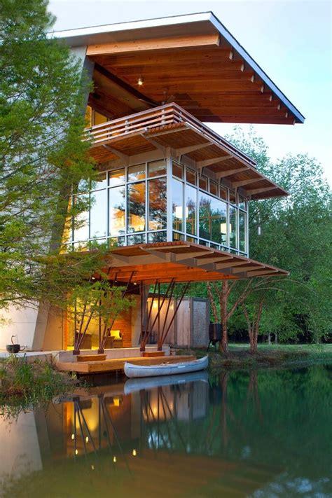 organic architecture pond house