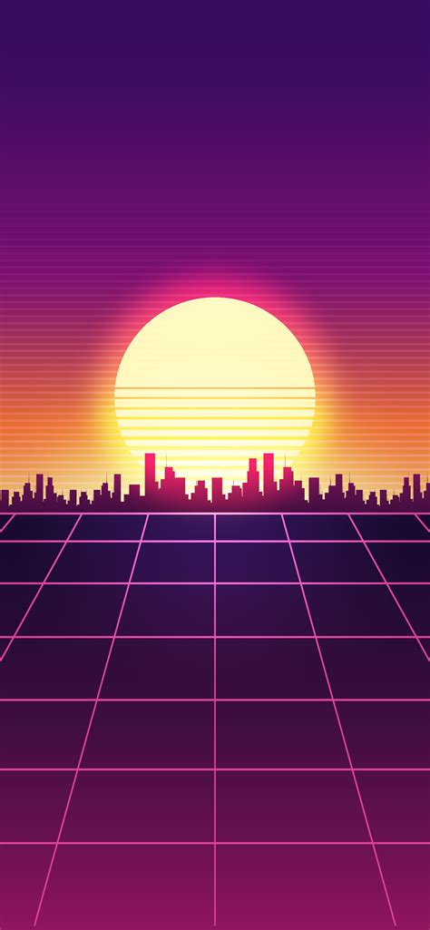 Simple Sunset Retro Wave Wallpapers
