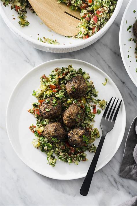 lebanese beef kofta spiced meatballs  salty kitchen