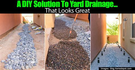 drainage solutions for yards a diy solution to yard drainage that looks great