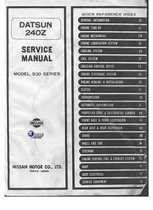 1973 Datsun 240z S30 Field Service Manual
