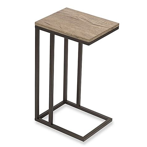 bed bath and beyond side table c table with metal base bed bath beyond