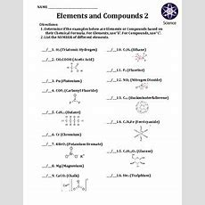 Worksheet Elements And Compounds 2 By Travis Terry  Teachers Pay Teachers