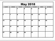 May 2018 Calendar calendar for 2019