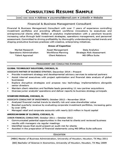 It Consulting Resume by Consulting Resume Sle Writing Tips Resume Companion