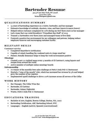 Resume Barista by 100 Skills For Barista Resume Barista Resume Exle