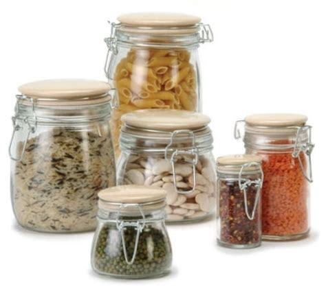 kitchen glass storage jars traditional glass storage jar 1 litre 4916