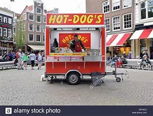 Hot Dog Stand : a hot dog stand with incorrect english grammar in spui centrum in the stock photo royalty free ~ Yasmunasinghe.com Haus und Dekorationen