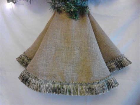 60 inch burlap tree skirt light gold and other colors fringe