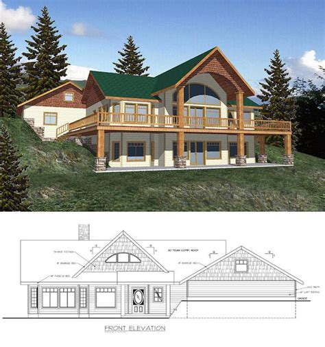 Contemporary Style House Plan 87091 with 2 Bed 2 5 Bath
