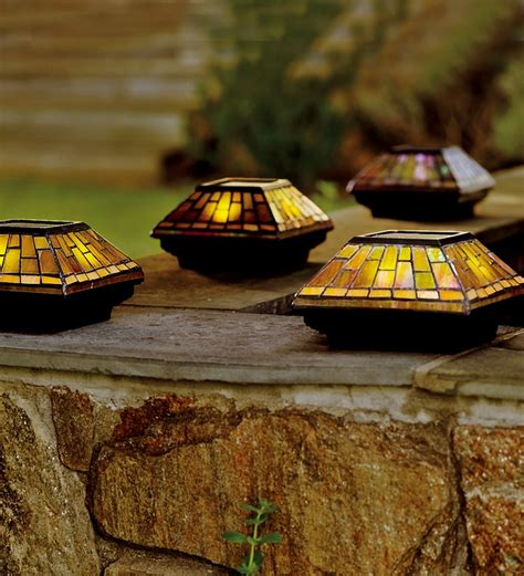 stained glass solar lights 1000 images about post caps finials on pinterest cap