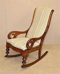 Mahogany, Rocking, Chair, -, Q3254