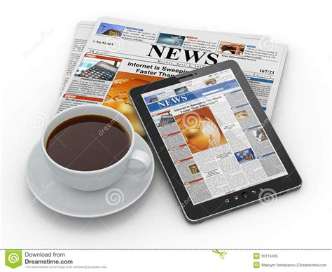 Morning News. Tablet Pc, Newspaper And Cup Of Coffee Stock Hot Coffee Bangalore Community On Sale 2017 Revenue Intelligentsia Mug For Gta San Andreas Target Hbo Documentary Yeti Travel